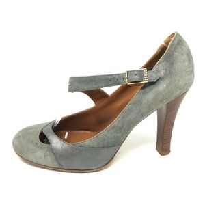 Marc Jacobs 7.5 Mary Jane Pumps Heels Suede